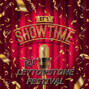 76042036--it-s-showtime-golden-signboard-and-retro-microphone-on-stage-in-spotlight-against-the-background-of